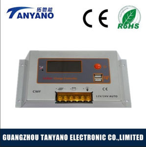 LCD 12V/24V MPPT Solar Charge Controller with USB