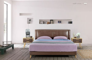 Bedroom Furniture New Elegant Design Modern Leather Bed (HC871) pictures & photos