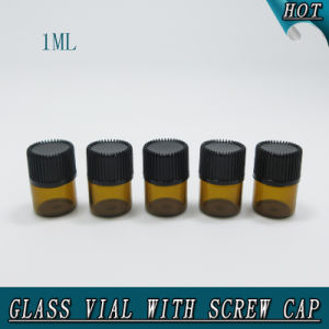1ml 1/4 DRAM Small Amber Orifice Reducer Sealing Glass Bottle Glass Vial pictures & photos