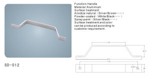 Aluminium Door/Window Handle Hardware Accessories (SD-012) pictures & photos