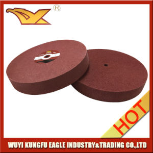 Abrasive Nylon Wheel Non Woven Polishing Wheel (150X25mm, 7P) pictures & photos