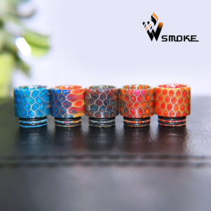 2016 Vivismoke Hot Selling Epoxy Tfv8 Resin Drip Tip Honeycomb Drip Tip Hive Resin Drip Tip