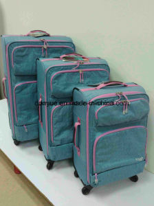 Factory Supplier Durable Washer Wrinkle Fabric Luggage Bag, Custom Low MOQ Travel Suitcase with Wheels pictures & photos