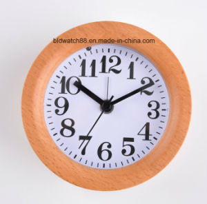 Custom Personality Wooden Alarm Clock with Nightlight for Sale pictures & photos