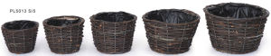 Durable Black Rattan Outdoor Garden Plant Pot pictures & photos