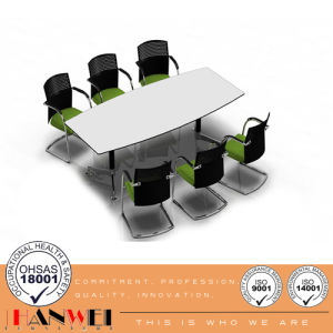 White Panel Top Wooden Furniture Boat Shape Meeting Conference Table pictures & photos