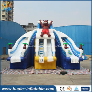 Customized Giant Bear Inflatable Water Slide for Kids