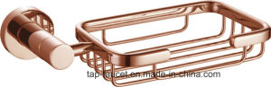 Bright Copper Finish Hard-Wearing Bathroom Brass Soap Dish Basket pictures & photos