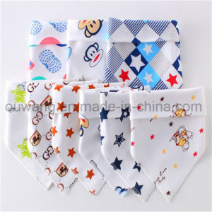Hot Selling Cute Printed Soft Cotton Baby Bandana Bib pictures & photos