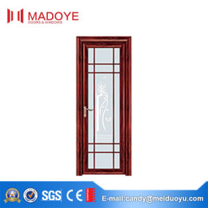 Madoye Aluminum Glass Door with Decorative Grill for Bathroom pictures & photos