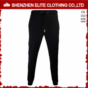Custom Logo Plain Black Jogger Sweatpants for Boys (ELTJI-22) pictures & photos