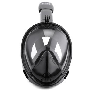 Black+Black Full Face Snorkel Mask with Gopro Camera Mount Dropshipping OEM Custom-Made pictures & photos