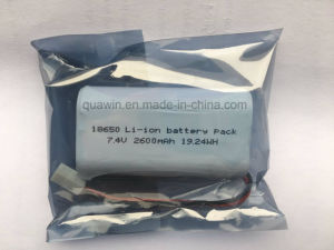 Lithium-Ion Battery 7.4V/2600mAh 2s1p Battery pictures & photos