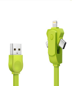 360 Rotation Style 3in1 USB Data Sync Charger Cable 30pin/8pin/Micro pictures & photos