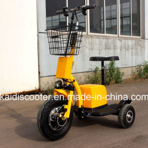 3 Wheels Electric Bike Mobility Sightseeing Vehicle 500W Ce Ginger pictures & photos