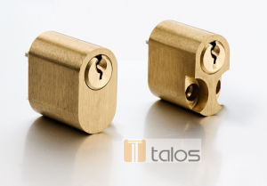Euro Satin Brass Scandinavian Cylinder Lock pictures & photos
