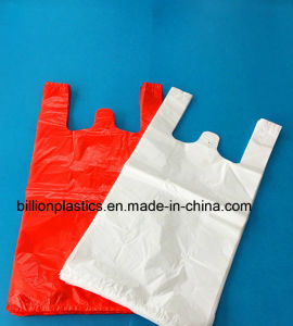 HDPE Plastic Plain Shopping Bag Bakery Bag Garbage Bag Rubbish Bag T-Shirt Bag Carrier Bag Shopping Bag Polybag Gusset Bag pictures & photos