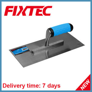 Fixtec Hand Tool Hardware Carbon Steel Plastering Trowel with Soft Grip Plastic Handle pictures & photos