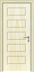Superior Quality Wooden Design PVC Coated Door (PVC coated door) pictures & photos