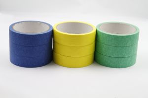 Colored Crepe Masking Paper Tape pictures & photos