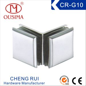 Zinc Alloy Double Side 90 Degree Glass to Glass Fixing Clamp (CR-G10) pictures & photos