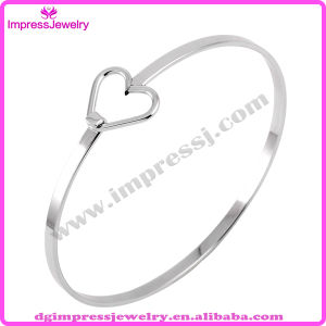 Adjustable Silver Wire Love Heart Bangles DIY Stainless Steel Wiring Bangle Bracelet for Women (IJB0288) pictures & photos