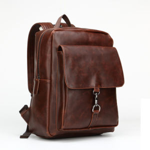 Wholesale Custom Vintage Leather Men Backpacks Bags/Backpack for Men (9916) pictures & photos