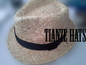 Natural Raffia Straw Fedora Hat pictures & photos