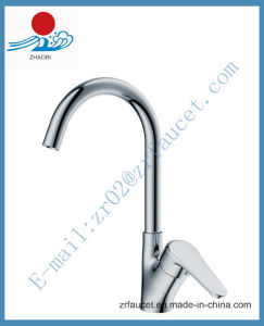Brass Kitchen Sink Mixer Faucet (ZR21409) pictures & photos