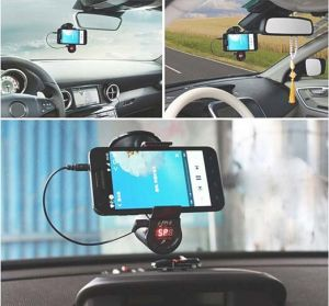 Hands-Free Car MP3 Player FM Transmitter with Navigation Clamp Bracket pictures & photos
