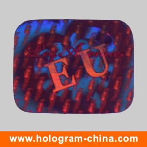 Red 3D Laser Security Hologram Label pictures & photos