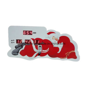 LED Digital Santa Claus Christmas Countdown Desk Alarm Clock pictures & photos