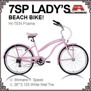 26 Inch 7 Speed City Beach Cruiser Bike (ARS-2611S) pictures & photos