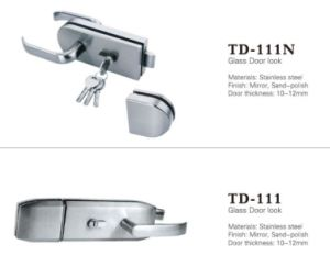 High Quality Zinc Alloy Glass Door Lock (TD-111N) pictures & photos