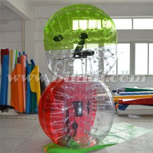 Crazy Sport! ! ! Hot Sale Half Color TPU Inflatable Human Sized Soccer Bubble Ball, Loopy Ball D5018 pictures & photos