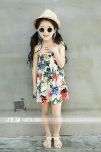 High Quality Printing Flower Girls Dress Brace Skirt Children Wear pictures & photos