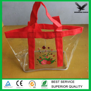 China Low Price Plastic Vinyl Tote Bags Soft EVA Bag with Handle ...