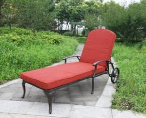 Classic Outdoor Cast Aluminum Chaise Lounge Furniture pictures & photos