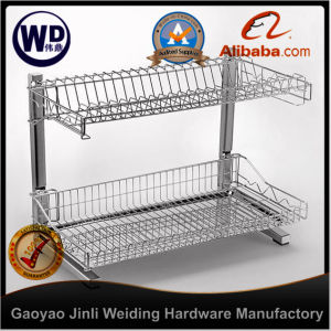 Pull Roll out Wire Larder Drawer Storage Basket Wt-213D pictures & photos