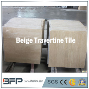 Elegant Marble Travertine Floor Tile for Interior & Exterior Flooring/Wall with Polished Surface pictures & photos