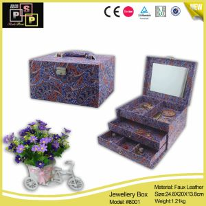 China Supplier Middle Household Multicolored Leather Jewellery Box pictures & photos