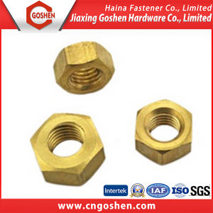 DIN934 Brass Hex Nuts, Copper Hex Nuts pictures & photos
