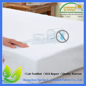 Terry Laminated Hypoallergenic PU Coated Waterproof Mattress Protector pictures & photos