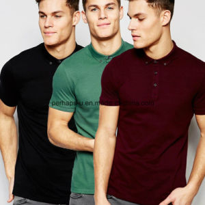 2016 Fashion Skinny Pure Color Men Polo Shirt in High Quality pictures & photos
