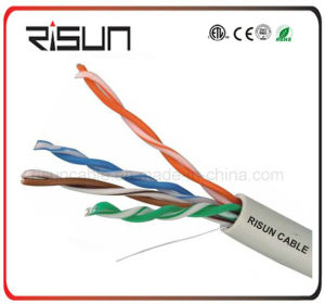 China Supplier Grey Ral7035 OFC UTP Cat5e Network Cable pictures & photos