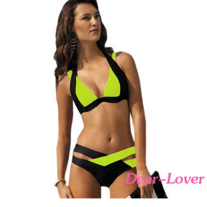 2016 Fashion Wholesale OEM Stock Women Girl Sexy Bathing Suit Beach Bikini Neoprene Swimming Wear Swimsuit Bikini Swimwear pictures & photos