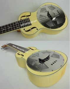China Aiersi High Quality Wooden Body Resonator Ukulele pictures & photos