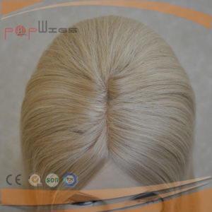 Full Blonde Remy Hair Mono Top Human Hair Piece pictures & photos