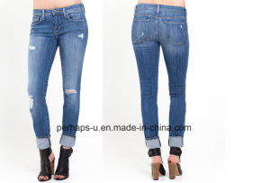 Charming Ladies Slim Stretchy Jeans pictures & photos