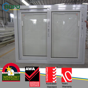 Aluminum Frame Residential Windows with White Blinds Glass pictures & photos